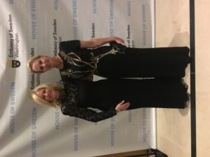 Admiral Susan Blumenthal and Dr Frances Arnold, 2018 Nobel Laureate in Chemistry at the Swedish Embassy