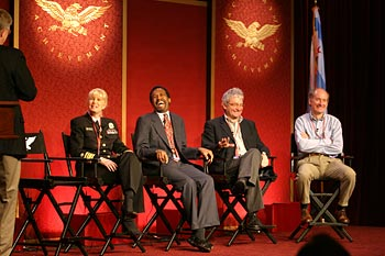 Susan Blumenthal with Ben Carson, Paul Nurse, and James Thomson