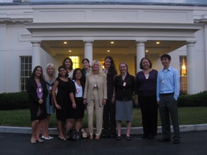 Susan Blumenthal with Interns at West Wing