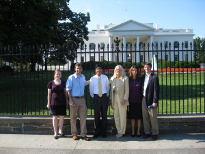 Susan Blumenthal with Interns at White House