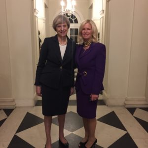Prime Minister Theresa May and Rear Admiral Susan Blumenthal.