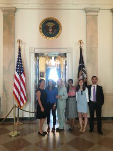 Susan Blumenthal, M.D. with Interns/Fellows at the White House