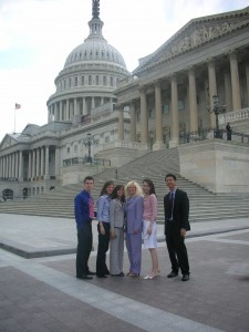 Susan Blumenthal with Interns at the Capitol
