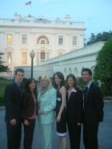 Susan Blumenthal with Interns