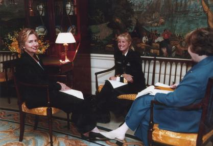 Secretary Hillary Clinton and Admiral Susan Blumenthal at White House