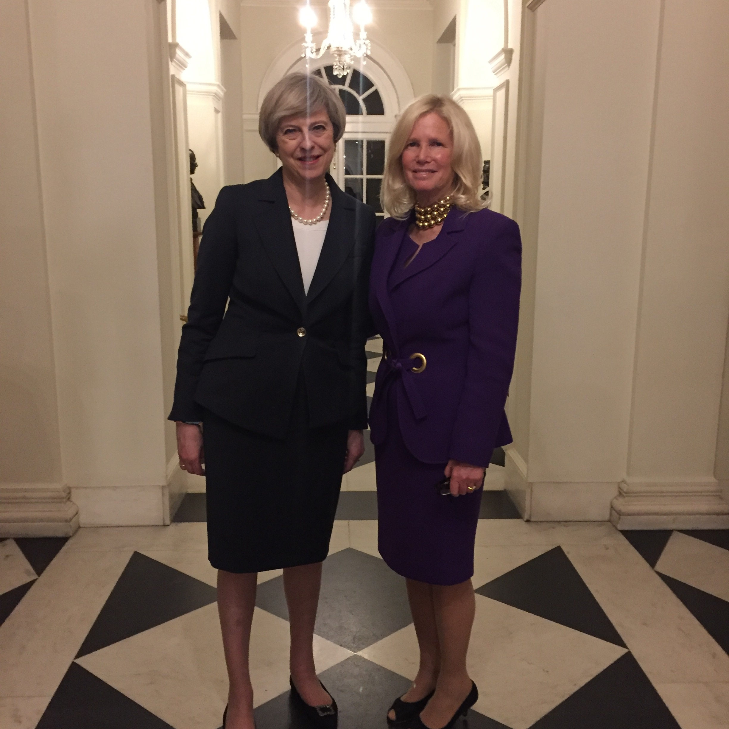 Prime Minister Theresa May and Rear Admiral Susan Blumenthal