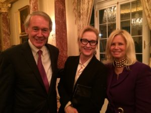 Senator Ed Markey, Meryl Streep - actress and advocate, and Admiral Susan Blumenthal
